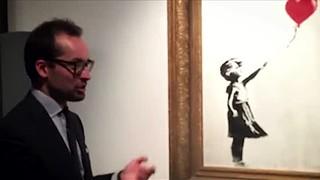 Banksy mostra como destruiu o quadro de 1,2 milhões de euros