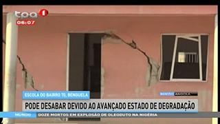 Escola do bairro 70, Benguela, pode desabar devido ao avanc?ado estado de degrad
