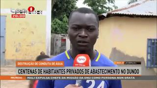 Chuva destrói conduta de captac?a?o de a?gua do Mussungue, Lunda-Norte