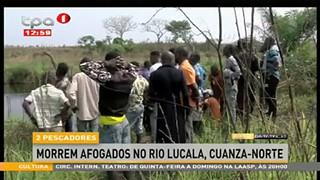 2 Pescadores morrem afogados no Rio Lucala, Cuanza-Norte