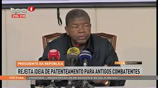 Presidente da República rejeita ideia de Patenteamento para Antigos Combatentes