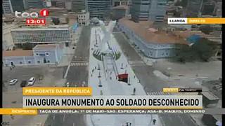 Presidente da República inaugura Monumento ao Soldado Desconhecido, Luanda