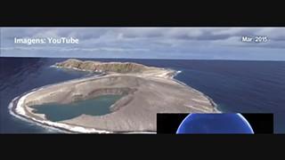 Vídeo da NASA mostra ilha a formar-se no Pacífico