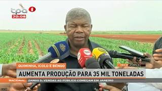 """Quiminha, Icolo e Bengo """"Aumenta produção para 35 mil toneladas"""""""