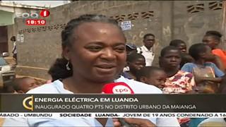 Energia Ele?ctrica em Luanda - Inaugurado quatro PTS no distrito urbano da Maing