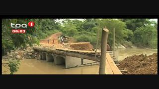 Ponte sobre o Rio Lombe, trabalhos de reposic?a?o no Alto Sundi, Cabinda
