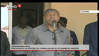 Presidente da Repu?blica fala a? populac?a?o do Alto Zambeze, Moxico