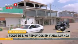 Belo Horizonte, focos de lixo removidos em Viana, Luanda