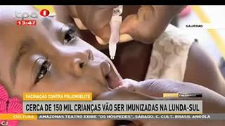 Vacinac?a?o contra poliomielite - cerca de 150 mil crianc?as va?o ser imunizadas