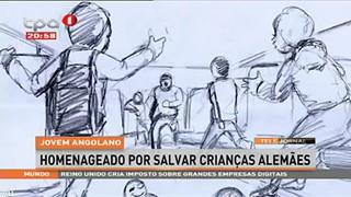 Jovem angolano homenageado por salvar crianc?as alema?es