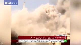 Icónico edifício de Teerão colapsa...