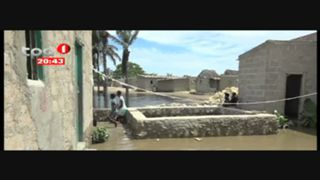 Rio Catumbela Transborda e deixa mais de 30 Casas Inundadas