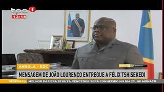 Angola - RDC - Mensagem de Joa?o Lourenc?o entregue a Fe?lix Tshiseked