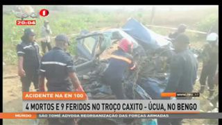 Acidente na EN 100 - 4 mortos e 9 feridos no Bengo