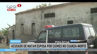 Homem acusado de matar esposa por ciu?mes no Cuanza-Norte
