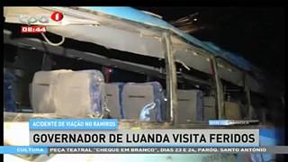Acidente de viac?a?o no Ramiros, Governador de Luanda visita feridos