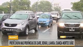 INAMET preve? chuva nas pronvi?ncias do Zaire, Bengo, Luanda, Cuanza-Norte e Uig