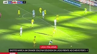 Liga Italiana-Bastos marca um grande golo