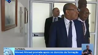 Presidente da CAF está em Cabo Verde para uma visita de dois dias
