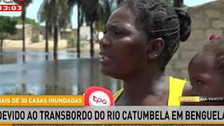 Mais de 30 casas inundadeas devido ao transbordo do rio catumbela em Benguela