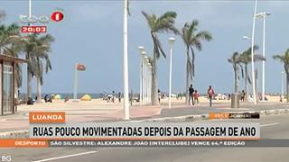 Luanda - Ruas pouco movimentadas depois da passagem de ano