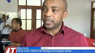 Câmara Municipal de Santa Catarina de  Santiago homenageia atletas e clubes que