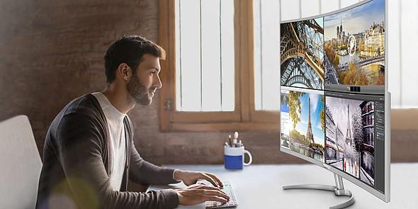 tek monitores curvos