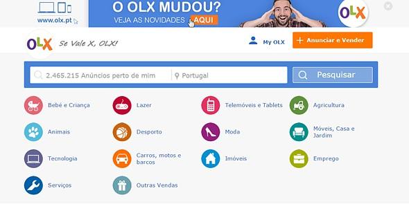 tek olx site anúncios