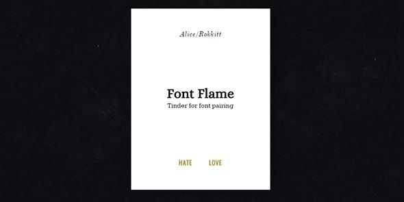 tek font flame tinder