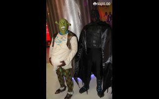 Shrek e Batman apareceram juntos na FILDA