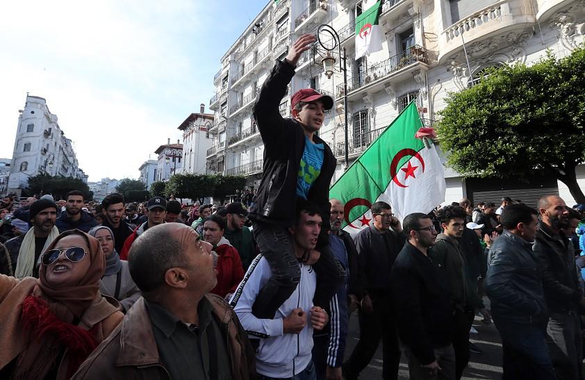 Manifestação na Argélia