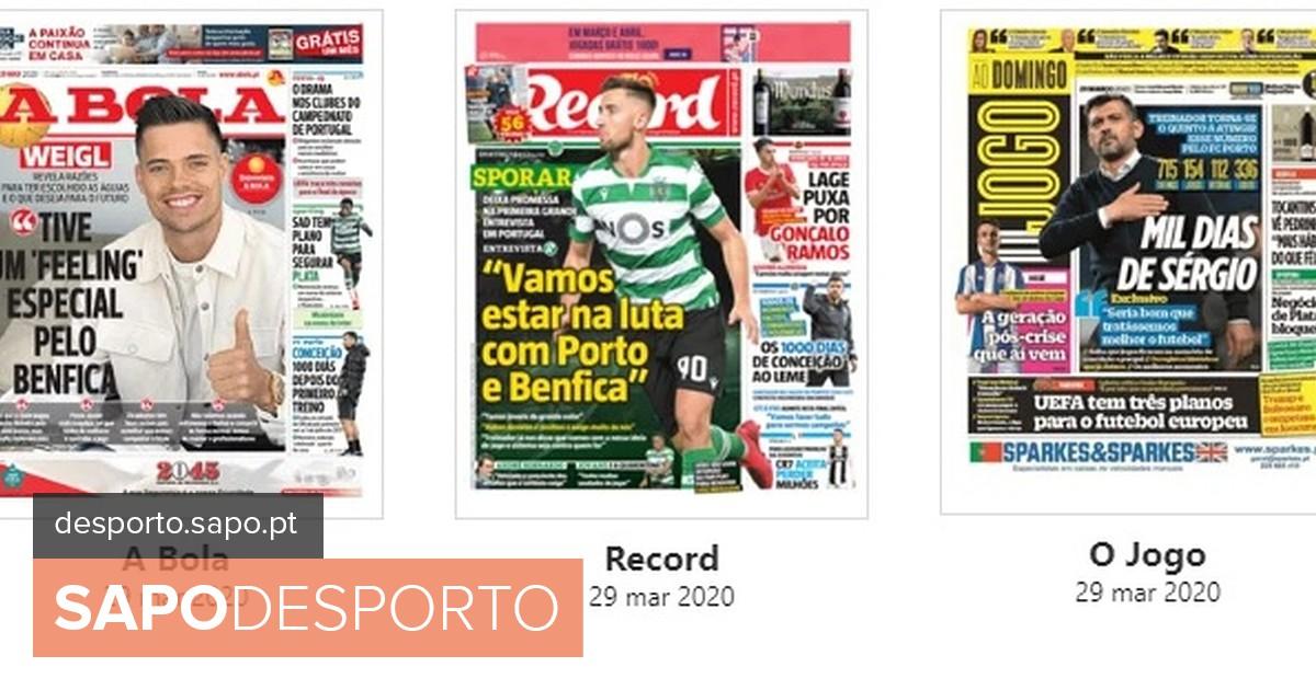 Photo of Revista de imprensa: O 'feeling' de Weigl, a promessa de Sporar e os 1000 dias de Sérgio Conceição – SAPO Desporto | SAPO Desporto