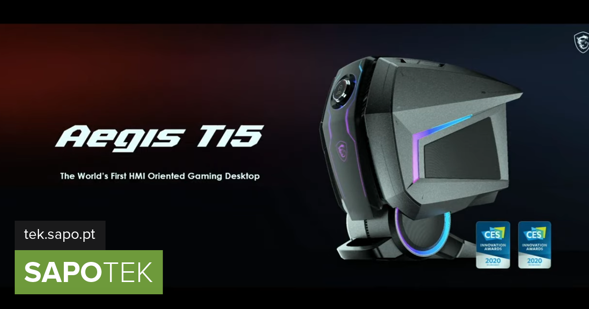 CES 2020: It looks like a futuristic robot head, but it's the new MEG Aegis Ti5 from ...