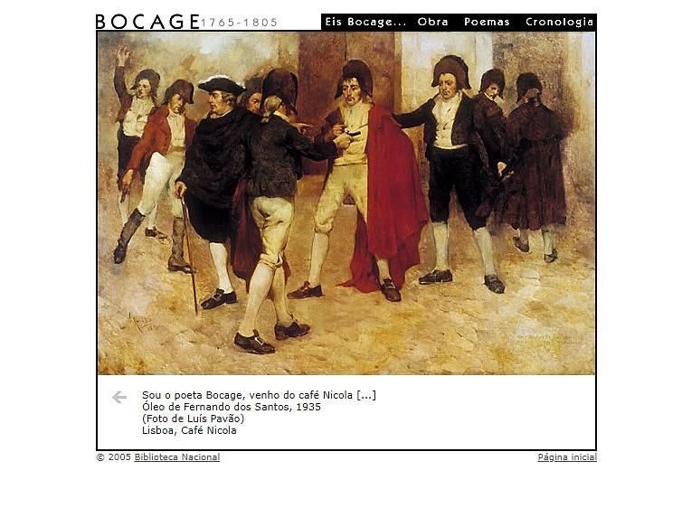 site sobre o poeta Bocage