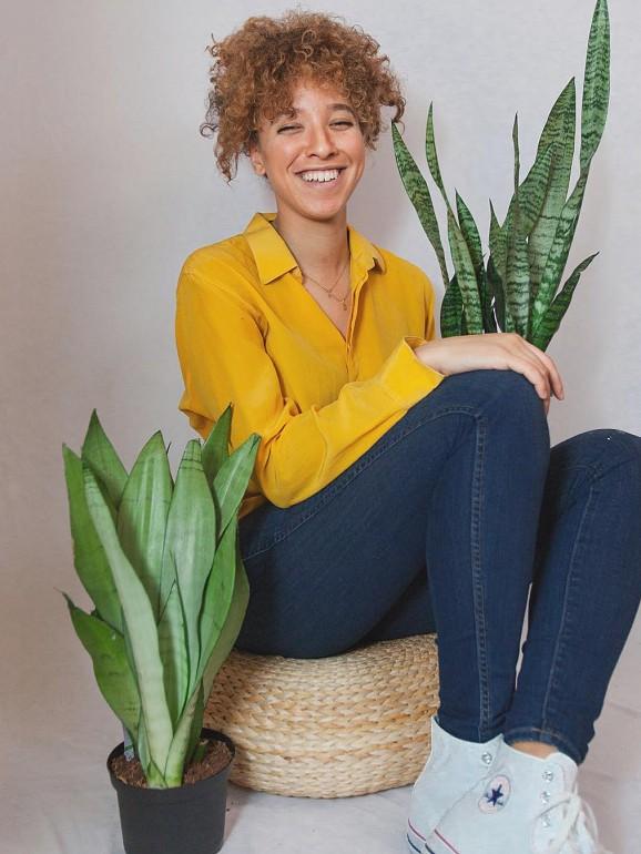 Maryah Greene trabalha como consultora de plantas