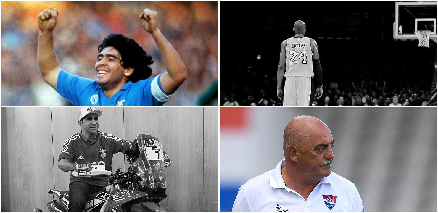 De Kobe Bryant a Maradona, de Paulo Gonçalves a Vítor Oliveira: 12 personalidades do mundo do desporto que partiram num fatídico 2020