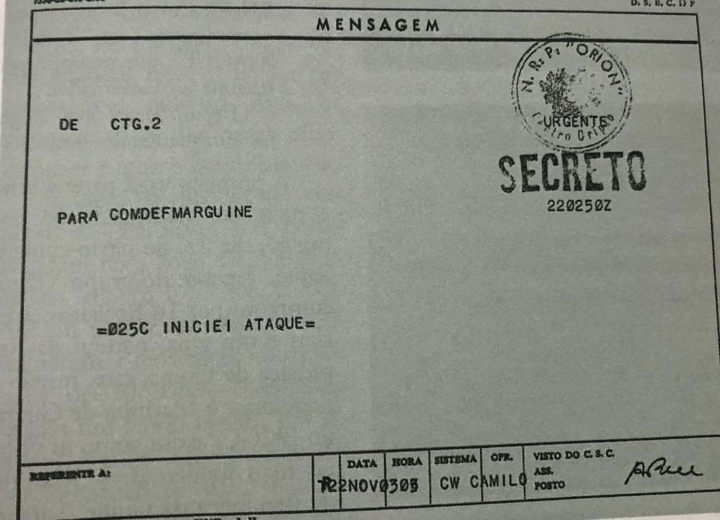 """Operação Mar Verde – """"Iniciei ataque"""": A mensagem de Alpoim Calvão para o comando naval de Bissau"""