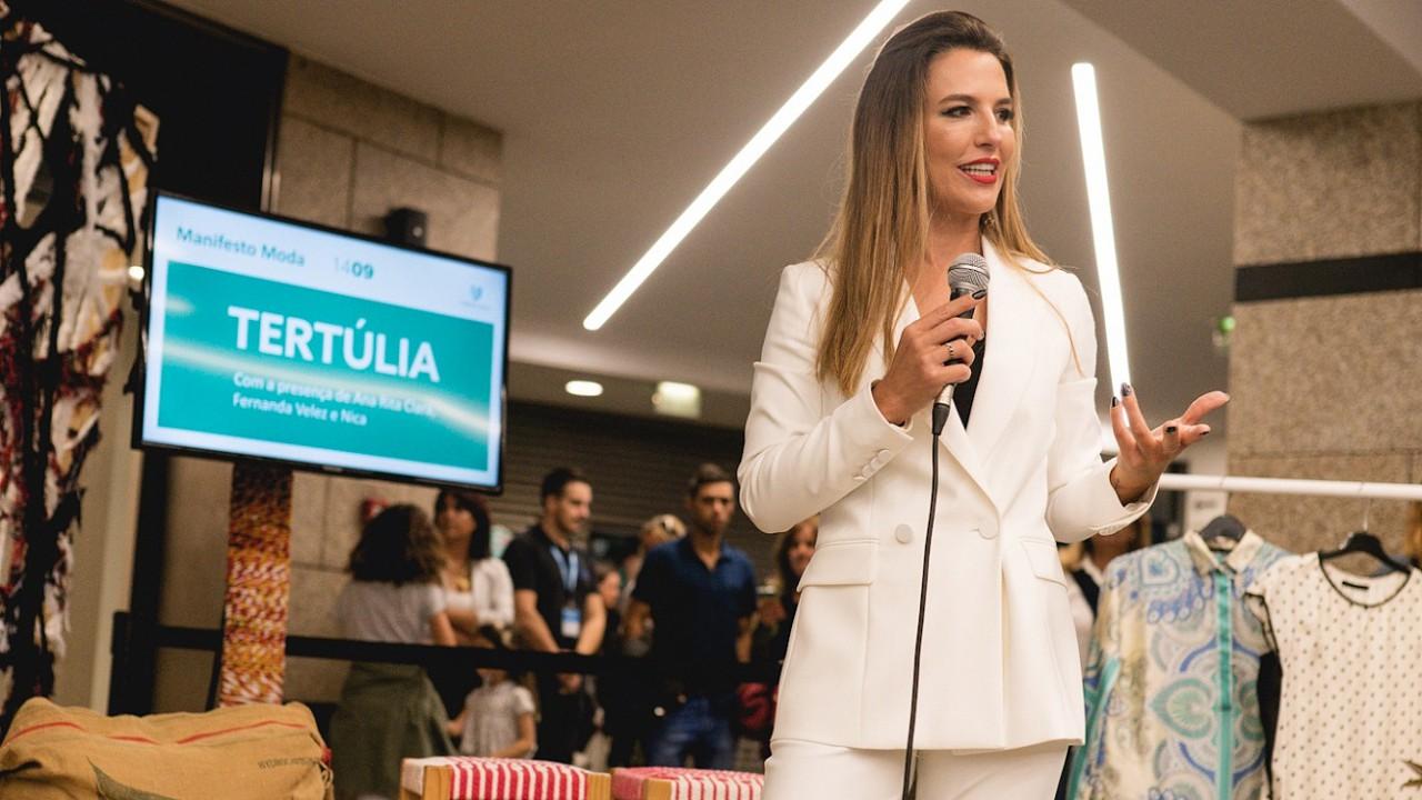 Apresentadora Ana Rita Clara no 'Manifesto Moda'