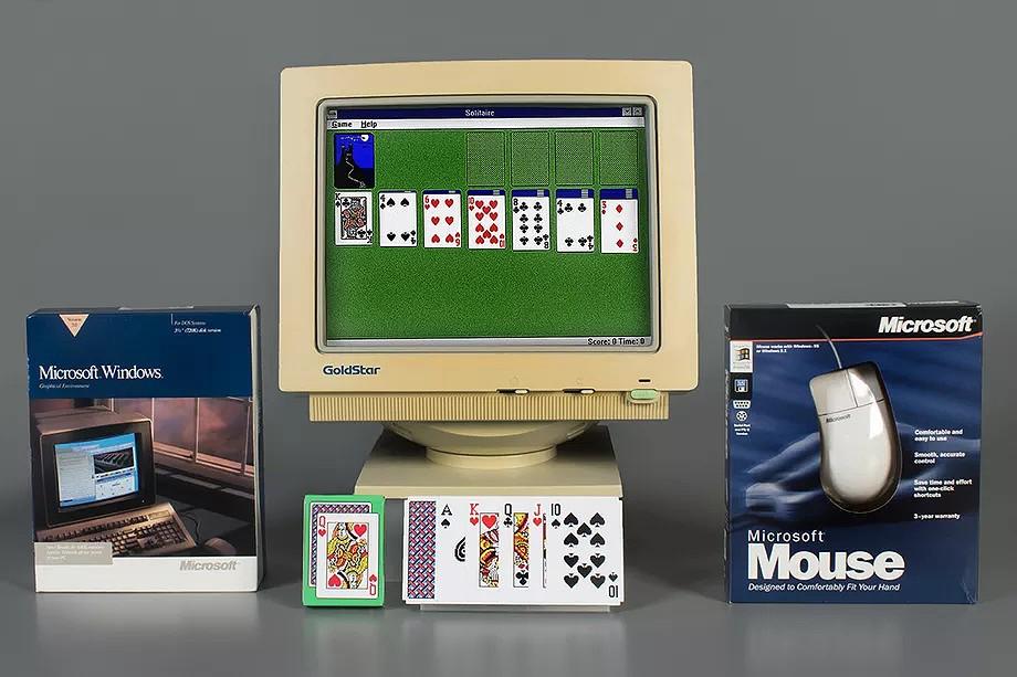 Versão original do Solitaire para Windows 3.0