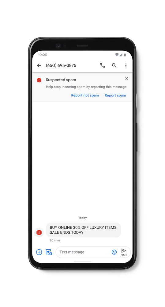 Messeges' new feature signals the most suspicious SMS received by the user.
