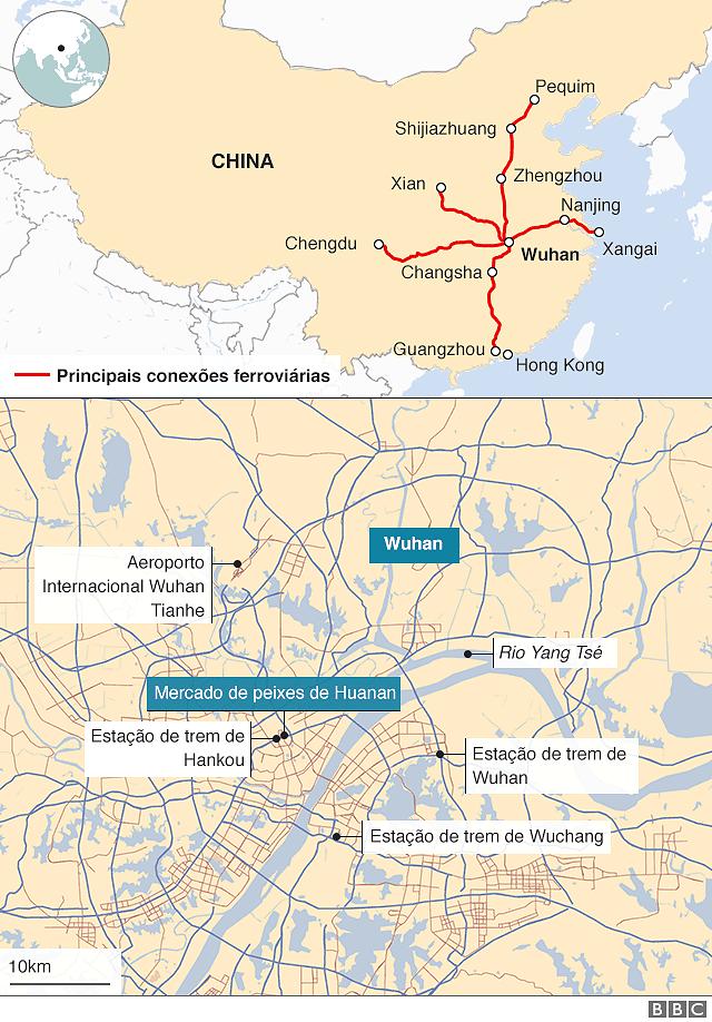 Mapa de Wuhan