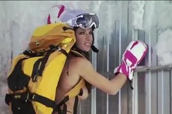 Jackie Chamoun sem pudores em Sochi