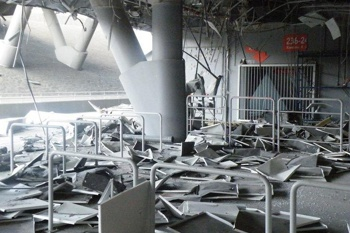 Estádio do Shakhtar bombardeado