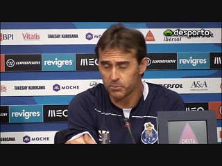 """Lopetegui: """"Precisamos de jogar bem com o Moreirense"""""""
