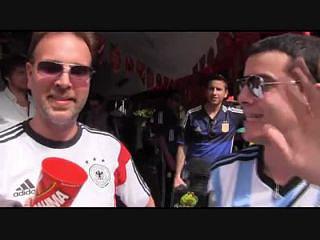 Uma rivalidade saudável entre alemães e argentinos