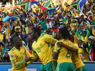 África do Sul vence França por 2-0 ao intervalo