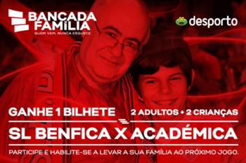 Vencedores do passatempo Benfica - Académica