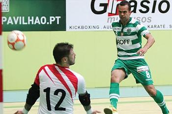 O brasileiro chegou esta temporada à equipa de futsal do Sporting.
