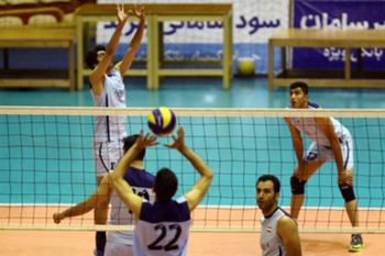 ran's volleyball national team players participate in a training session at Azadi sports hall in Tehran on July 8, 2014, preparing the team to play at World League Finals 1st group in Italy on July 16. Iran's volleyball team may face an uphill battle in the World League's final round this week but their challenge represents a mere step towards a medal at the 2016 Olympics.