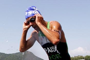 O triatleta brilhou em Budapeste.